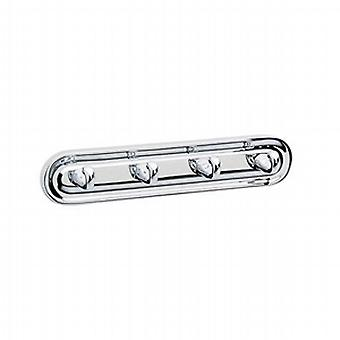 Villa Chrome Hook Quadruple K259