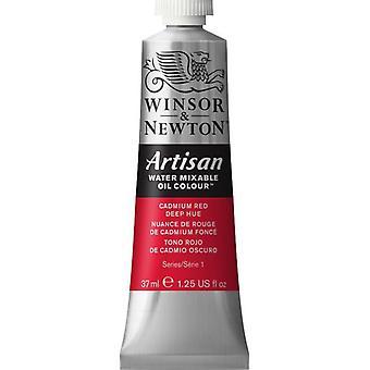 Winsor & Newton Artisan vatten blandbart olja färg 37ml (098 kadmium röd djup nyans S1)
