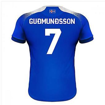 2018-2019 أيسلندا آريا المنزل كرة القدم قميص (غودموندسون 7)