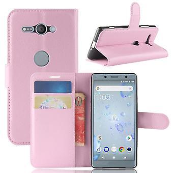 Prime de poche portefeuille rose pour Sony Xperia XZ2 Compact / manchon de protection Mini étui nouveau
