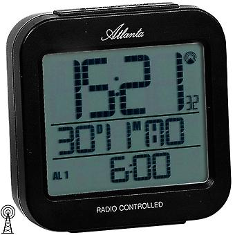 Atlanta 1809/7 alarm clock radio digital black light date thermometer digital alarm clock
