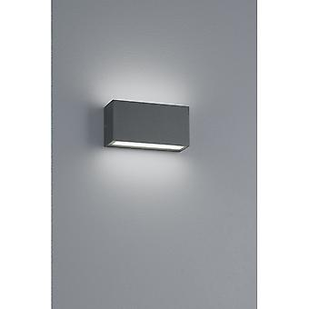 Trio verlichting Trent Modern antraciet Diecast Aluminium wand Lamp
