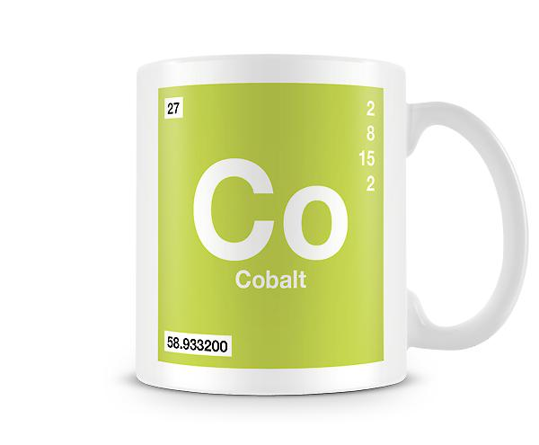 Element Symbol 027 Co - Cobalt Printed Mug