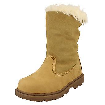 Girls Caterpillar Slip On Boots Bruiser Scrnch