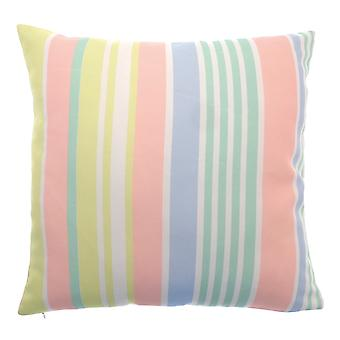 Country Club Shower Resistant Cushion, Spots and Stripes