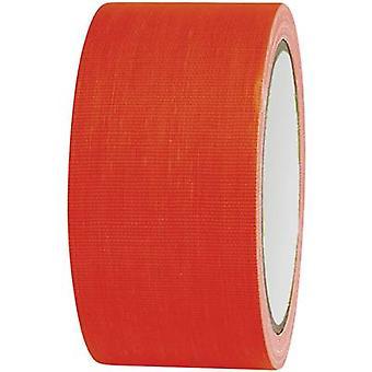 Cloth tape 80FL5025OC Neon orange (L x W) 25 m x 50 mm TOOLCRAFT