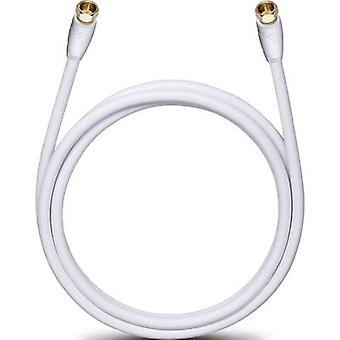 Oehlbach Antennas, SAT Cable [1x F plug - 1x F plug] 4 m 110 dB gold plated connectors White