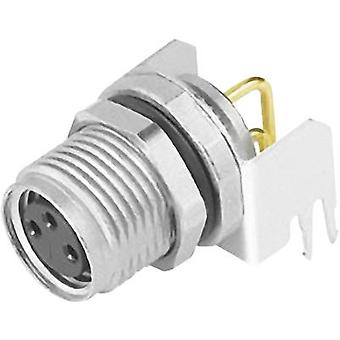 Sensor/actuator built-in connector M8 Socket, right angle No. o