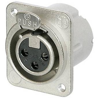 Neutrik NC3FD-LX-M3 XLR connector Sleeve socket, straight pins Number of pins: 3 Silver 1 pc(s)