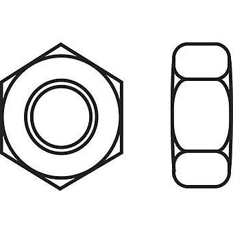 TOOLCRAFT 888722 Hexagonal nuts M6 DIN 934 Steel zinc plated 1 pc(s)