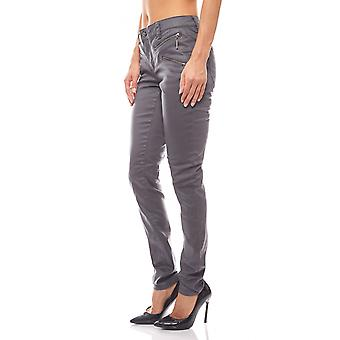 B.C.. best connections ladies tube pants in glossy finish grey