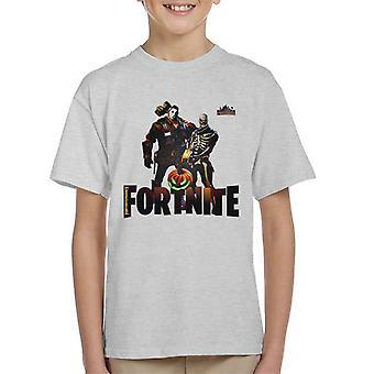 Fortnite Nitemares skjelett Hockey maske Kids t-skjorte