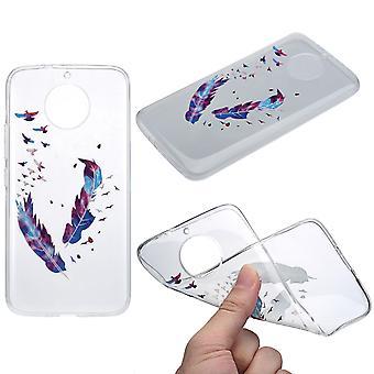 Cubierta de la henna para Motorola Moto G5 funda protectora silicona plumas manchadas