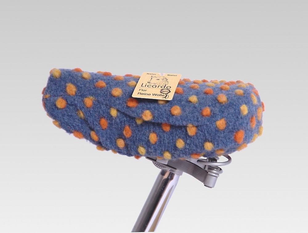 Cykel sadel cover uld boble blå 20/30 cm