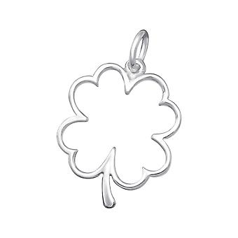 Lucky Clover - 925 Sterling Silver Plain Pendants - W36131x