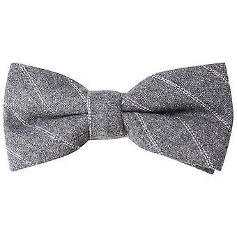 Knightsbridge Neckwear Diagonal Striped Tie - Grey/White