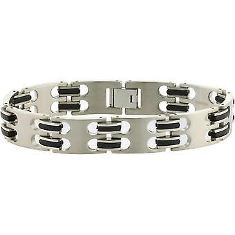 Bracelet large en titane TI2 - argent/noir