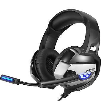 ONIKUMA K5 3.5 mm Gaming headsets voor PC, Laptop, PS4, XBOX-zwart