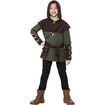 Robin Hood boy barn drakt Carnival Hunter middelalderen