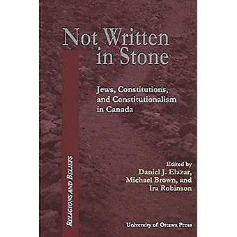 Not Written in Stone: Constitutional Documents of Canadian Jewry