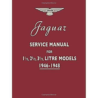 Jaguar servicemanual 1946-1948 för 1,5, 2,5, 3,5 liter modeller