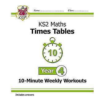 Nuevo KS2 Maths: Veces tablas de entrenamientos semanales de 10 minutos - año 4