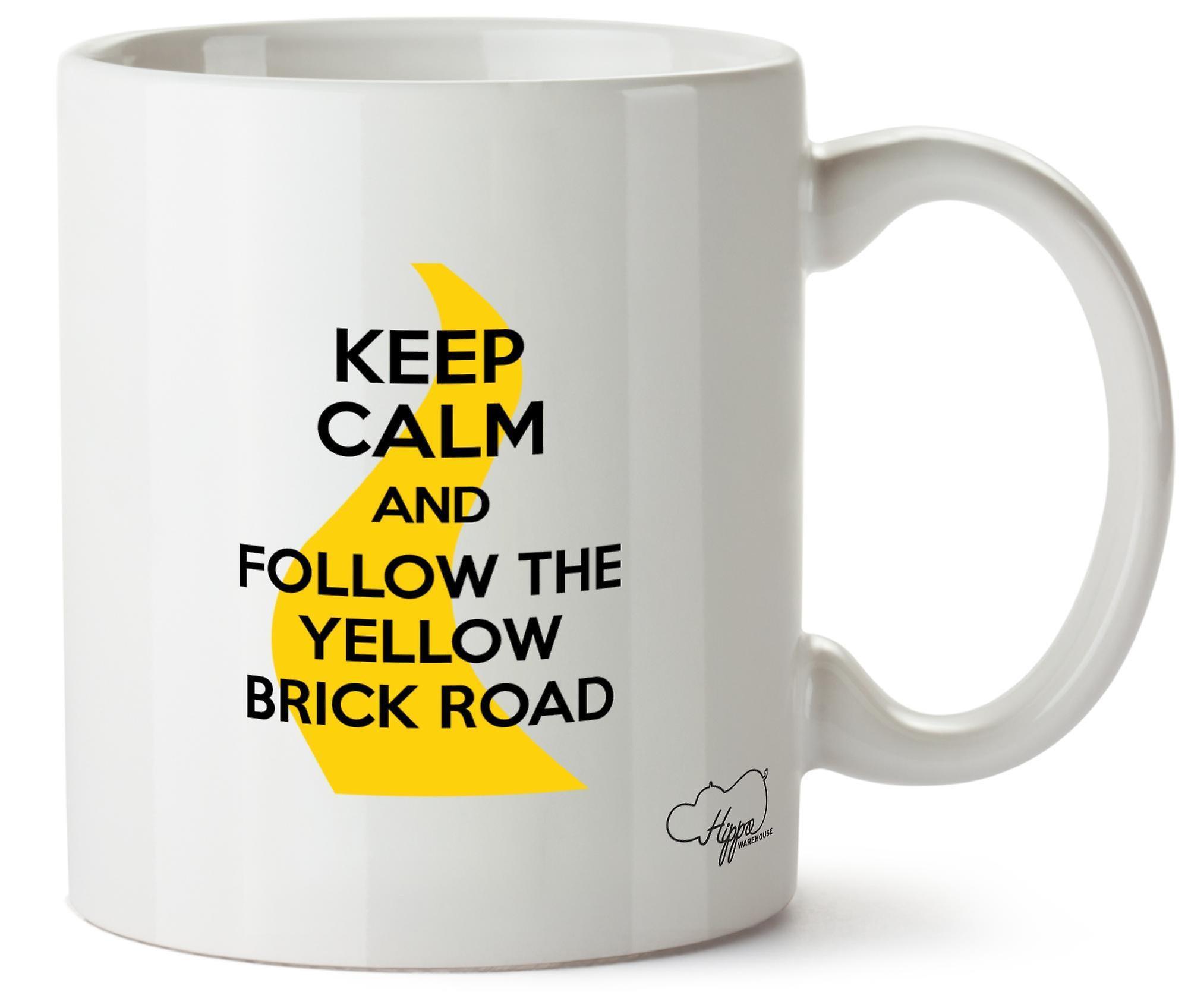Road Tasse 10oz Le Mug Céramique Calme Et Hippowarehouse Yellow Imprimé Brick Garder Suivez ZkTXiOPu