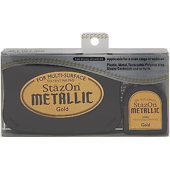 StazOn Metallic Solvent Ink Kit-Gold