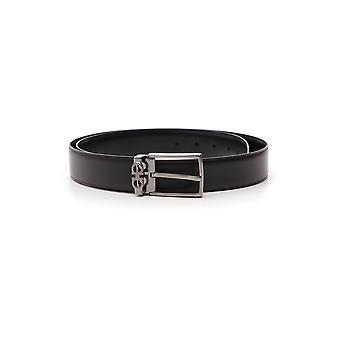 Salvatore Ferragamo Black Leather Belt