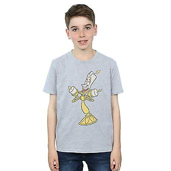 Chicos de Disney belleza y el bestia Lumiere agobiados camiseta