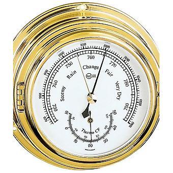 Barigo marine ship porthole barometer thermometer 612MS