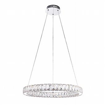 Endon 61341 Swayze Chrome and Clear Faceted Acrylic Ceiling Pendant Li