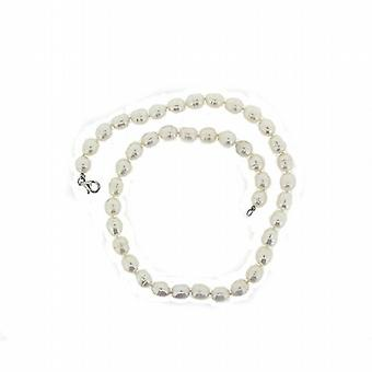TOC Baroque Bleached White Freshwater Cultured Pearl Necklace 17 Inches