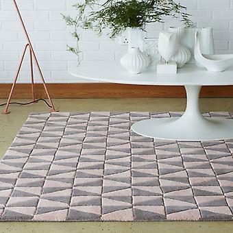 Ковры - геометрические серый & бледно розовый - Geo05