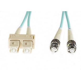 Aqua Sc-St Om3 Multimode Fibre Optic Cable