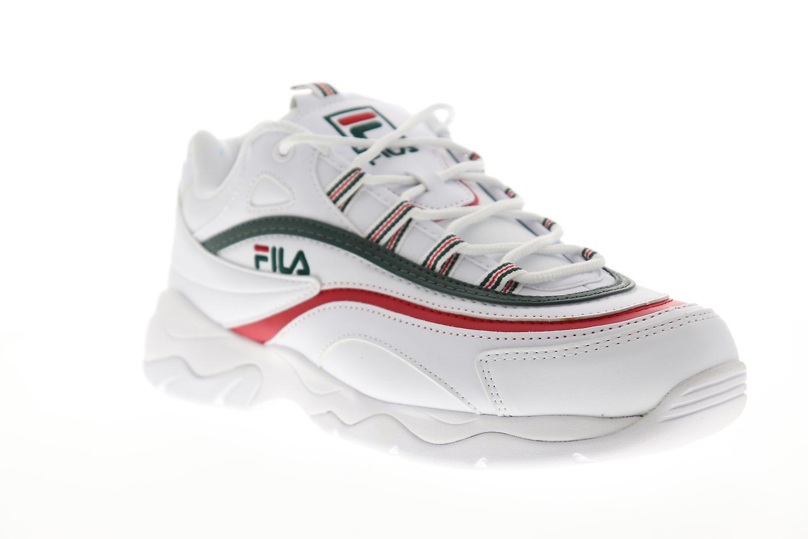 Fila Fila Ray  Mens White Leather Casual Low Top Sneakers Shoes