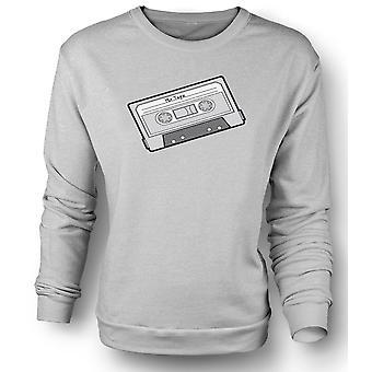 Mens Sweatshirt Oldschool-Kassette
