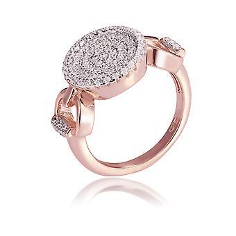 Orphelia Silver 925 Ring Rose Round With Zirconium ZR-7420