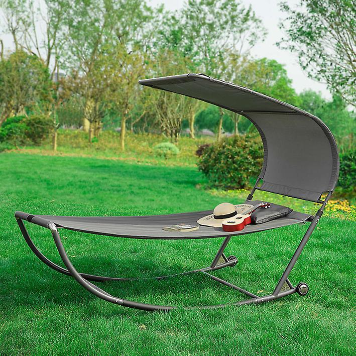 SoBuy Swing Sun Bed with Sun Shade Outdoor Garden,OGS44-DG