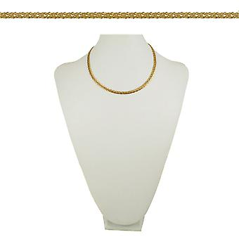 Eternal Collection Classique Chevron Link 18 Inch Gold Tone Necklace