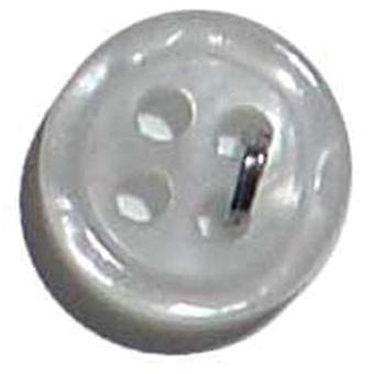 Slimline Buttons Series 1 White 4 Hole 3 8