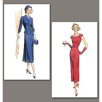 Misses' Jacket And Dress  Aa 6  8  10  12 Pattern V1136  Aa0
