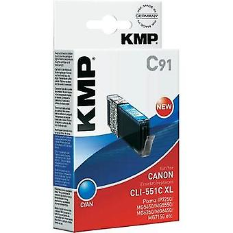 KMP Ink replaced Canon CLI-551C, CLI-551C XL Compatible