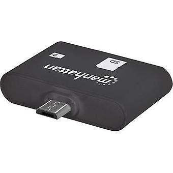 USB 2.0 Adapter [1x USB 2.0 connector Micro B - 1x SD Card slot] Black incl. OTG function Manhattan