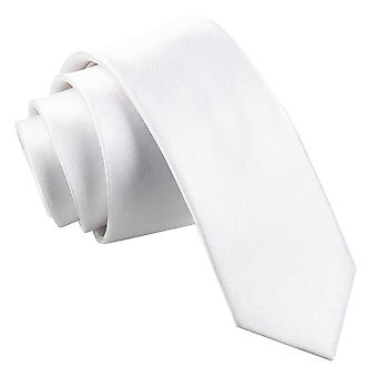 White Plain Satin Skinny Tie
