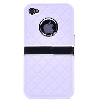 Hard cover with chrome and support (white)-iPhone 4/4S