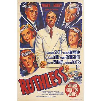 Poster do filme implacável (11 x 17)