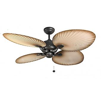 Outdoor Ceiling Fan Palm Chocolate Brown with pull cord 132 cm / 52