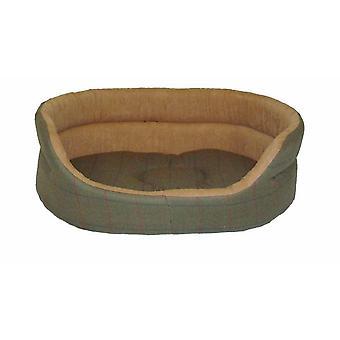 Tweed grønne slummer Bed 53cm (21