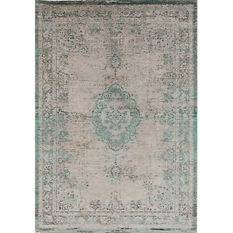 Distressed Jade Oyster Cotton Medallion Rug - Louis De Poortere 200x280